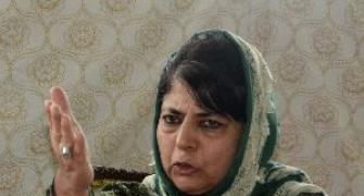 PIX: When Mehbooba lost her cool