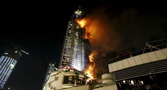 Huge fire erupts at Dubai hotel shortly before New Year celebrations