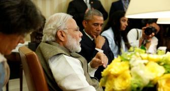 Wonder if Obamas will shift to India: Sena's potshot against Modi