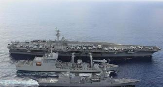 Chinese spy ship shadows US, India, Japan joint naval exercise