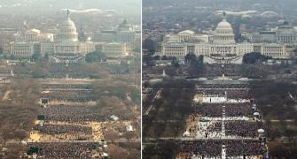Trump's inauguration drew fewer crowd than Obama's