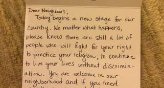 Muslim American gets heartwarming letter from neighbours post Trump inauguration