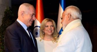 PHOTOS: Netanyahus host Modi for a private dinner