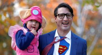 Is it a bird, is it a plane? It's 'super' Trudeau!