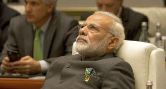 The sound of laughter is making Modi wary
