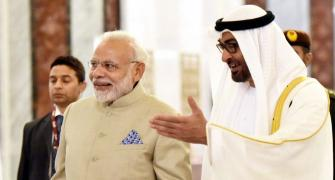 PM meets Crown Prince of Abu Dhabi; unveils model of temple