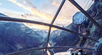 Would you sleep in a glass pod suspended off a mountainside?