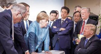 This image from Merkel at the G7 summit made thousands go LOL