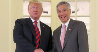 Trump meets Singapore PM Lee; hopes 'nice' outcome from summit with Kim