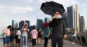 PHOTOS: When 'Kim Jong-un' posed for selfies in Singapore