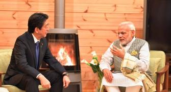 PHOTOS: Japanese PM plays perfect host to 'dependable friend' Modi