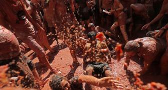 Painting the town red: La Tomatina festival
