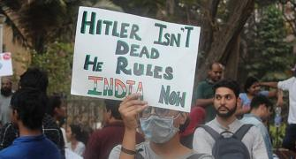 Hitler isn't dead: Creative posters at Mumbai protests