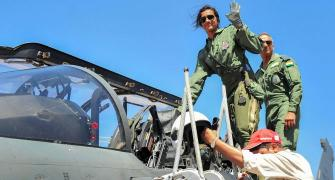 PIX: P V Sindhu flies Tejas fighter jet