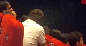 SPOTTED: Rahul watching 'Article 15' in the theatre