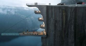 Would you live in hotel that hangs off a cliff?