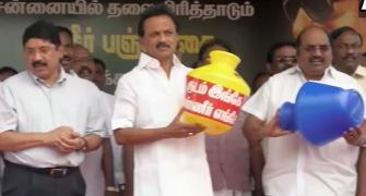DMK protests as Chennai's water woes persist