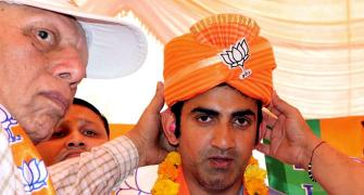 Gambhir hits a century on his political debut!