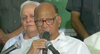 'Will sit in Oppn': Pawar rules out tie-up with Sena