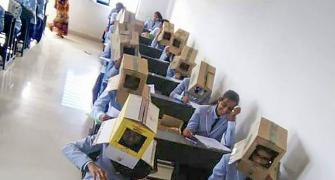 To curb cheating, K'taka students made to wear cartons