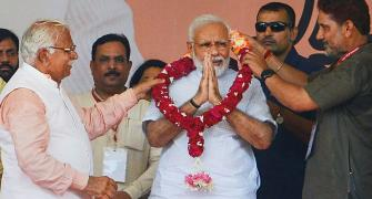 BJP seems to be flying high in Haryana