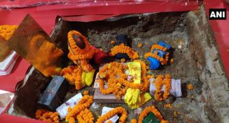 9 bricks laid down at Ram Mandir construction site
