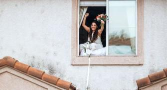 Covid-stricken bride gets married in quarantine