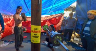 Exercise, reading and 'sewa': Farmer's 'protest life'