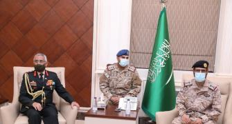 What was the army chief doing in Saudi Arabia?