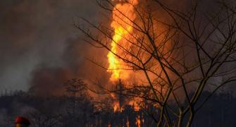 SEE: Massive fire rages at Assam oil well