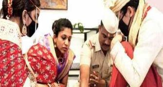 Wedding in the time of coronavirus, courtesy Pune cops