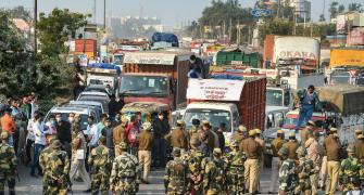 Security upped at Delhi border as farmers close in