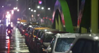 Nivar: Cars parked on flyover to avoid 2015 repeat