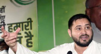 Slippers hurled at Tejashwi Yadav during poll rally