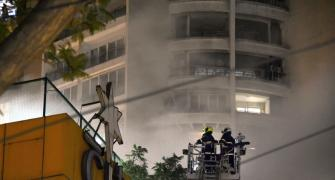 20 hours on, fire continues to rage at Mumbai mall