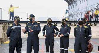 Navy Chief reviews combat readiness amid LAC row