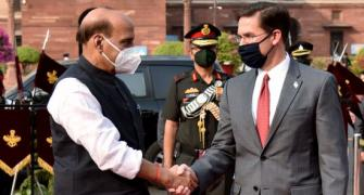 Ahead of 2+2 dialogue, Rajnath holds talks with Esper