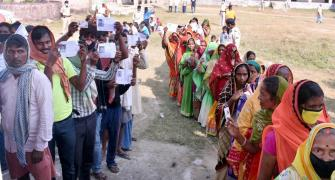 55.69% voter turnout in first phase of Bihar polls
