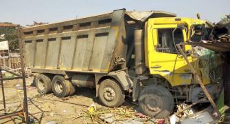 Guj: 14 labourers, baby girl crushed to death by truck