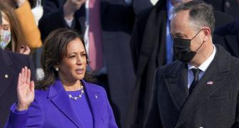 Kamala Harris sworn in as America's first woman VP