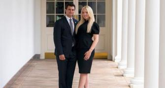 Trump's daughter announces engagement on his final day
