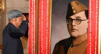 Row erupts over Netaji portrait at Rashtrapati Bhavan