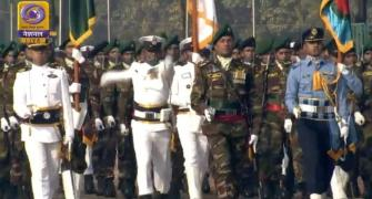 Bangladesh contingent takes part in R-Day parade