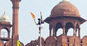 SEE: Farmers storm Red Fort, plant flag on dome