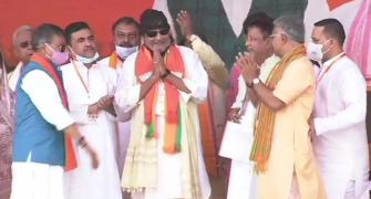 West Bengal polls: Actor Mithun Chakraborty joins BJP