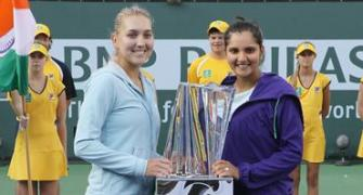 Sania-Vesnina win Indian Wells doubles