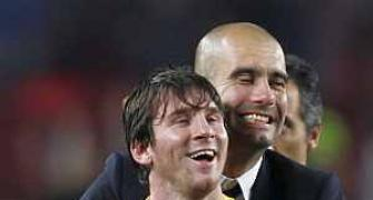 'Emotional' Messi pays tribute to 'mentor' Guardiola