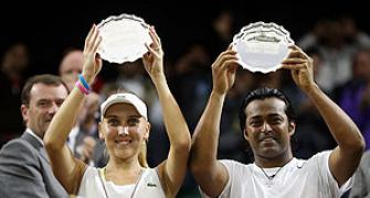 Wimbledon: Paes-Vesnina fall in summit clash