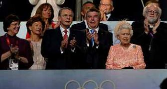 Queen plays surreal cameo with 007 at opening ceremony