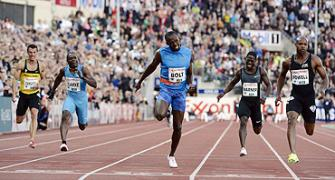 Bolt overcomes Powell challenge to win 100m in Oslo